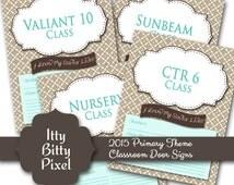 Lds primary 2015 theme printable di gital classroom door for Idea door primary 2015