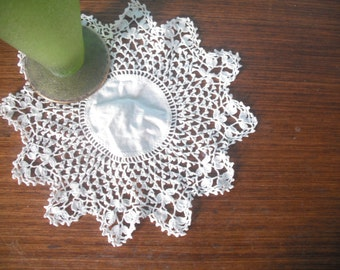 vintage linen table doily