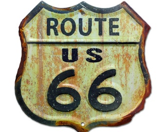 Handcrafted Vintage Route 66 Sign  (PSS00005)