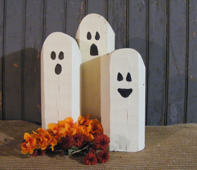 new trick or treat candy corn halloween decor wood sign blocks
