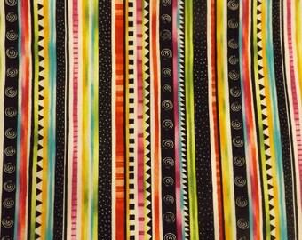 Paintbrush Studios Rio Stripe Quilters Cotton Fabric BTY