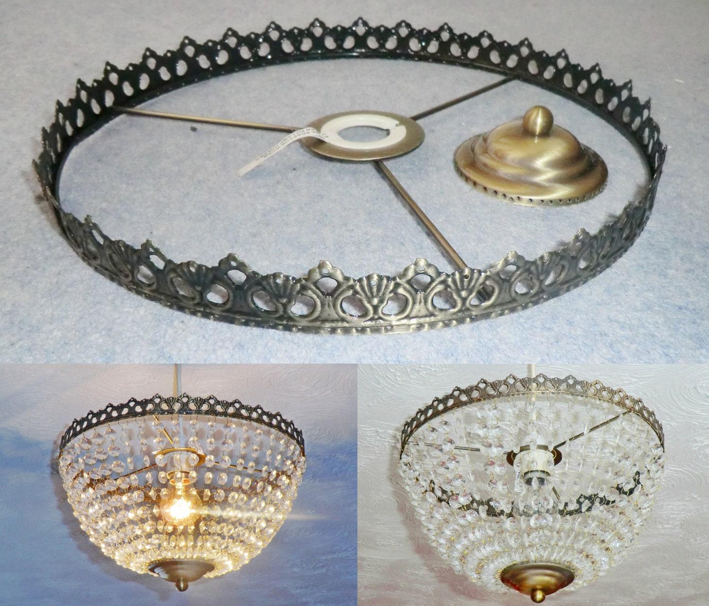 Basket chandelier metal frame skeleton make your own for How to make your own chandelier