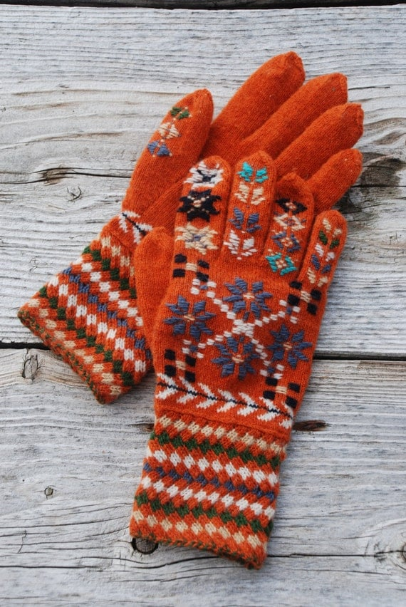 Estonian Traditional Gloves Knit Gloves Pure Wool Gloves