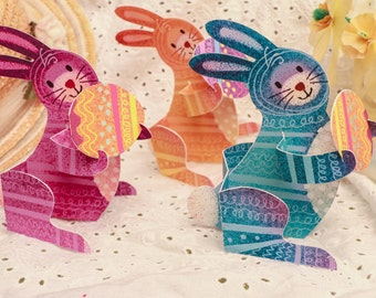 Easter Bunny, 3D Paper Animal Greeting Card/Sculpture