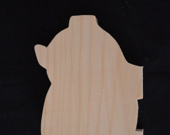 Handcrafted Set of 10 Wooden Pig Cutouts