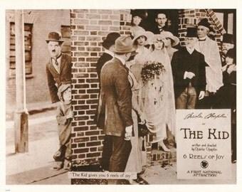Charlie Chaplin The Kid  Rare Poster