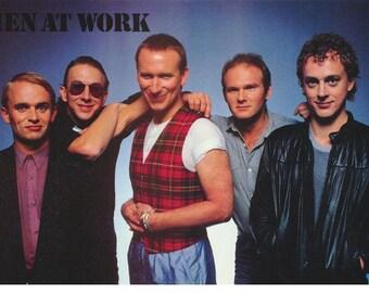 Men At  Work 1983 Color  Rare Poster