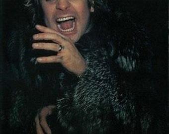 Ozzy Osbourne Color  Rare Vintage Poster