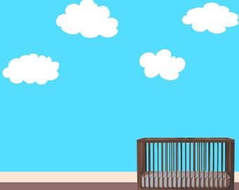 Extra Large Cloud Decals to add to the decor of your child's room, playroom or nursey