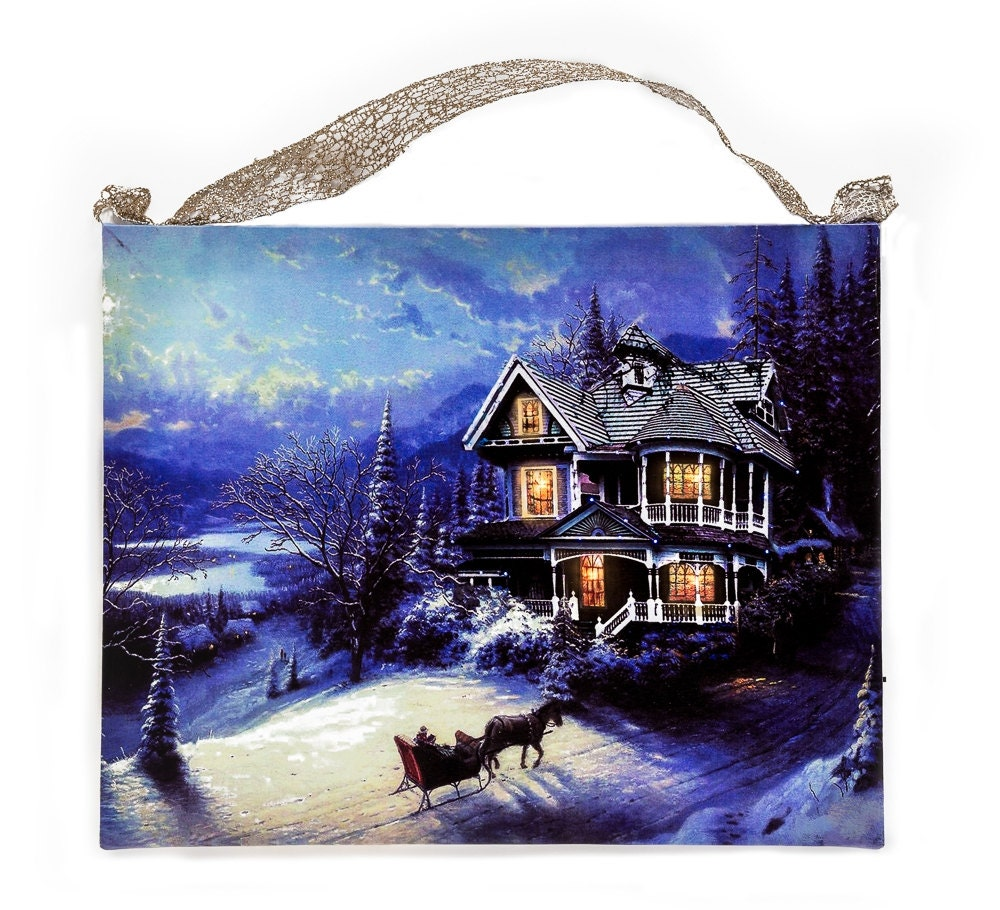 Thomas Kinkade Old Fashion Print Snow On By ShopMolliesMarket