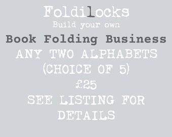 Build Your Own Book Folding Business- ANY TWO Book Folding ALPHABET Patterns, plus a free tutorial. See listing for details.