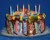 Candy Bar Cake - sweet surprise for everyone's special day. Free Nationwide Shipping and Free local delivery.