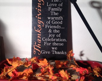 Thanksgiving Love of Family sign