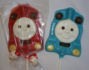 20 Chocolate THOMAS THE TRAIN Lollipop Party Favors