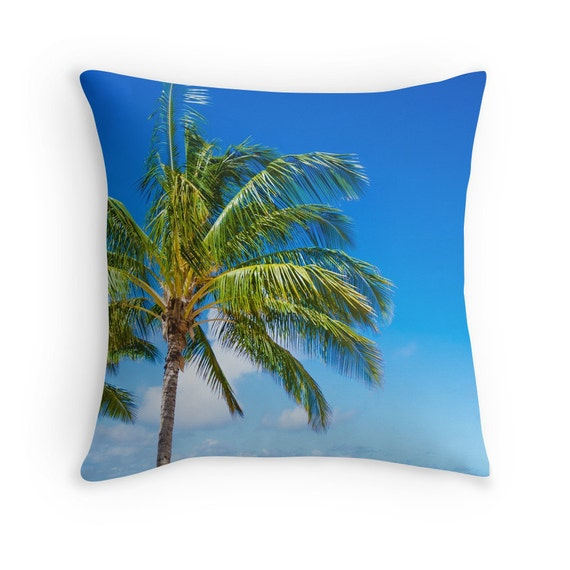 Decorative Pillow Palm Tree : Palm Tree Pillow cover cotton throw pillow Personalized