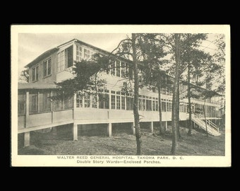 Walter Reed General Hospital, Double Story Wards, USA Vintage Postcard