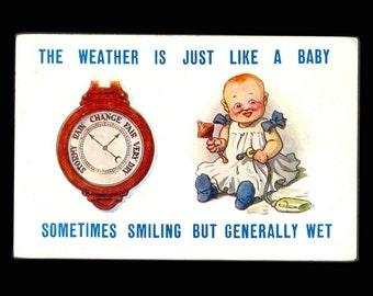 Like a Baby Vintage Postcard