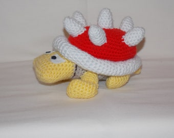 Spiny Crochet Pattern From Super Mario Bros Videogame