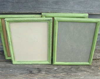 Any Color-Shabby Chic Simple Vintage Frames-8x10 in Distressed,Nursery,Wedding Rustic Home Decor
