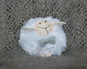 Year 2015 Symbol - Fluffy Sheep Toy - Boy