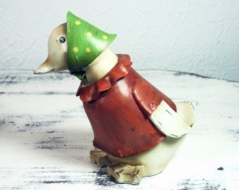Cute Duck Shabby Chic Painted