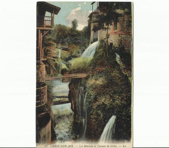 gresy sur aix les moulins et cascade de gresy circa 1910. Black Bedroom Furniture Sets. Home Design Ideas