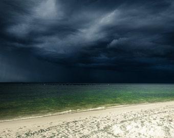 Beach Photography | Dauphin Island Storm | Sky and Weather | Alabama Photography | Storm Photography | Mounted Print