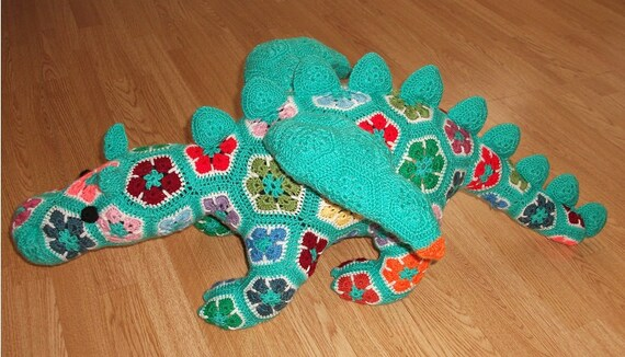 African Flower Crochet Dragon Pattern : Unavailable Listing on Etsy