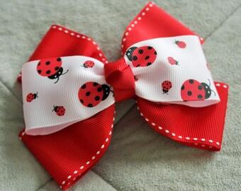 Ladybug Hair Bow Clip