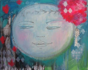 Soul Charm Original 16 x 20 Acrylic Painting on Canvas