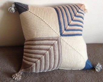 Geometric Cushion Knitting Pattern : Popular items for knitted cushion on Etsy