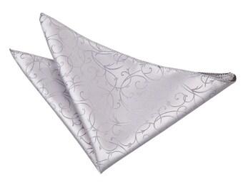Swirl Silver Handkerchief / Pocket Square
