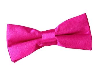 Satin Hot Pink Boy's Bow Tie