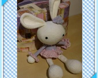 Bunny musical  toys jouet baby bébé kids enfant crochet doll poupée amigurumi gift knitting handmade shower gift stuffed toys