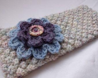 Hand Knitted Cream Ear Warmer