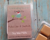 Mulled Cider and Chestnuts Soy Wax Melt, Wax Tart, Soy Wax Tart