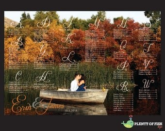 Personalized Wedding Seating Chart with Photo