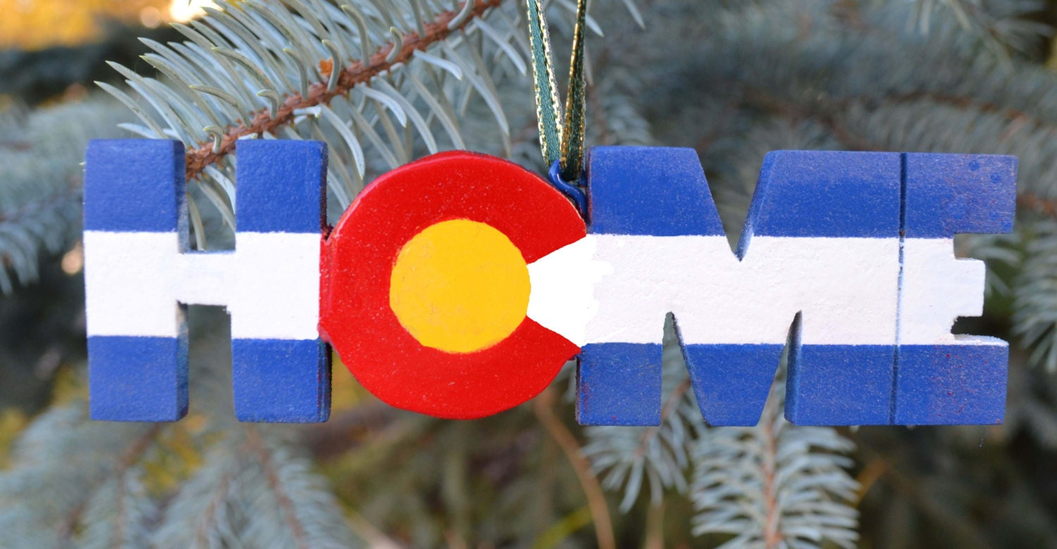 Home colorado christmas ornament wood and paint by statetuned