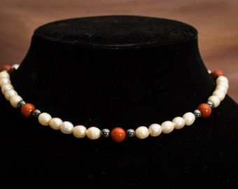 Hand crafted pearl necklace
