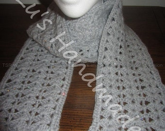 Light Gray Sequined Scarf.