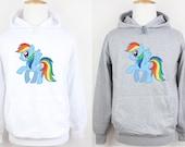 My Little Pony  Rainbow Dash Friendship Is Magic Design Pattern Hoodie Plain Sports Gym Sweatshirt Men's Women's Boy's Girl's Hoodie Hoody