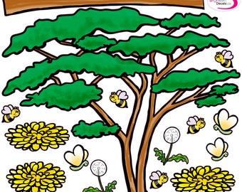 Safari Tree Wall Decal