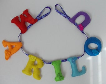 name banner for kids / Garland surname for child