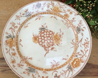 Antique English Victorian Doulton plate from 1893