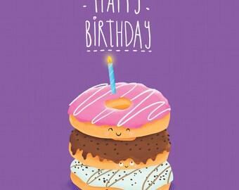 Donut Birthday Card! Fun greeting card for everyone!