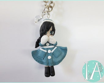 Winter Doll - Polymer Clay Charm Necklace