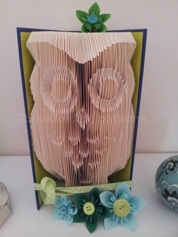 owl book folding pattern. Black Bedroom Furniture Sets. Home Design Ideas
