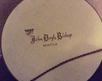 """1 """"John Bishop of Seattle"""" Hatbox"""