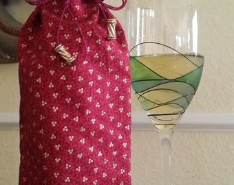 Gourmet Wine Bag-Glitter Collection (Rouge n' Gold Berries)