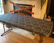 Halloween Table Cloth the compliments will be flying in when you dress your halloween table in our sophisticatedly shocking appliqu bats tablecloth and runner Custom Fit Stay Put Reusable Halloween Print Tablecloth Or Table Cover For Your Halloween Party 6